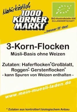 3-Korn Flocken, 750g