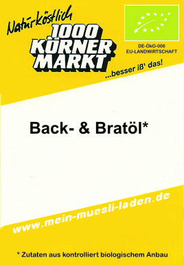 Pop-, Back- & Bratöl   500 ml