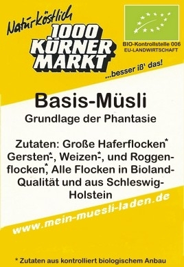 Basis-Müsli im 100 g p-bag