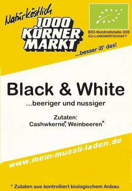 Black & White - vegan -  250 g