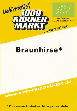 Braunhirse, ganz 1.000g in ECO-& Family-Tüte