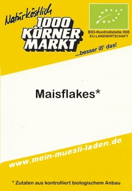 Maisflakes - pur & Vollkorn  500g