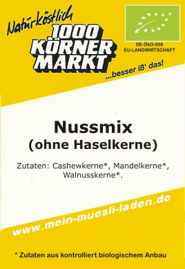 Nuss-Mix - ohne Haselkerne 200 g