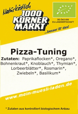 Pizza-Tuning, Bio 100g