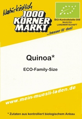 <b>Quinoa - made in Germany 1.000g