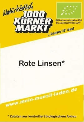 Rote Linsen - Wochenendration    250 g