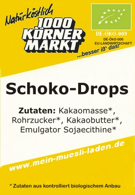 Schoko/Kuvertüre-Drops 200g